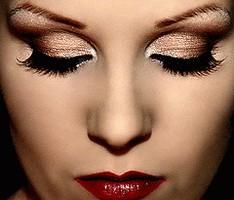 Золотой макияж фото