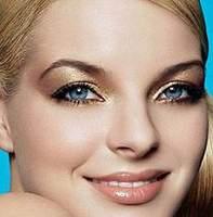 золотой макияж пример