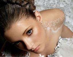 золотой макияж свадебный