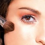 золотой макияж техника
