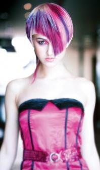 макияж фиолетовые волосы