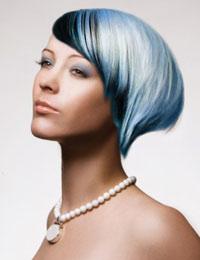 голубые волосы макияж