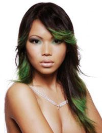 зеленые волосы макияж