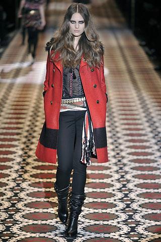 пальто с мехом зима 2009