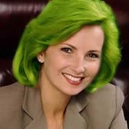 экстремальный зеленый цвет волос