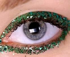 блестящий новогодний макияж 2009