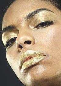 золотой новогодний макияж
