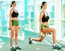 Упражнения ноги гантели