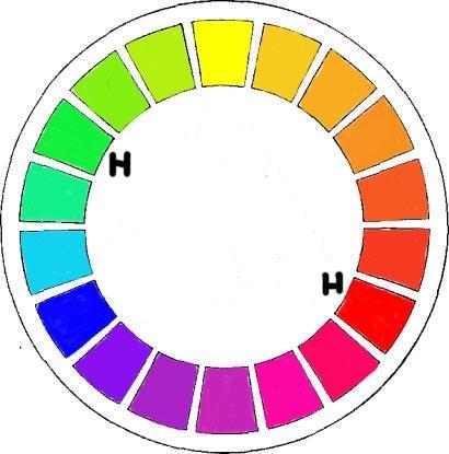 Спектральный круг 24 цвета
