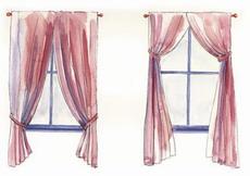 пропорции шторы