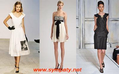 летние платья 2009 белые черные