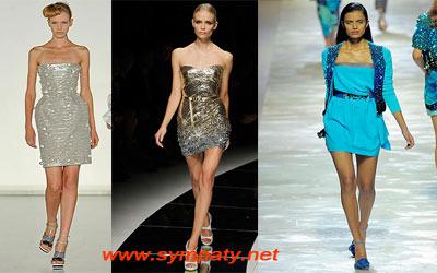 летние платья 2009 стразы