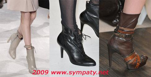 ботинки на каблуке 2009