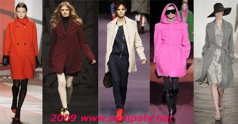 цвета пальто осени 2009