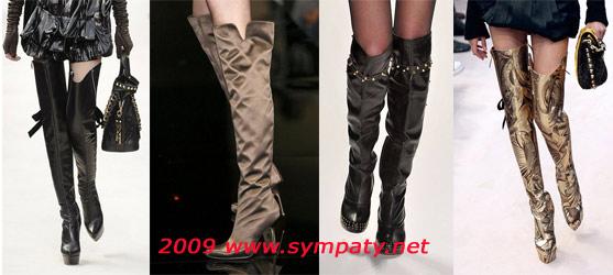Сапоги выше колена осени-2009