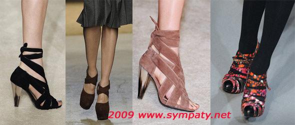 туфли с лентами осень 2009