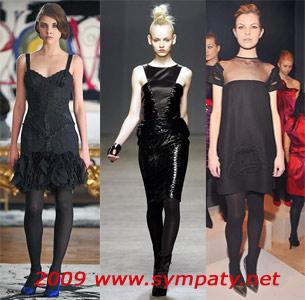 черные платья осень 2009