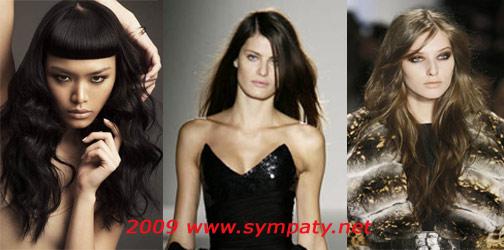 длинные волосы осень 2009