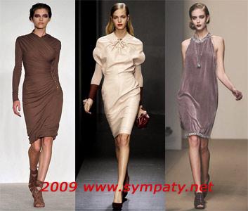 Платья осени-2009 до колена