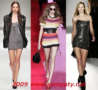 платья мини осень 2009