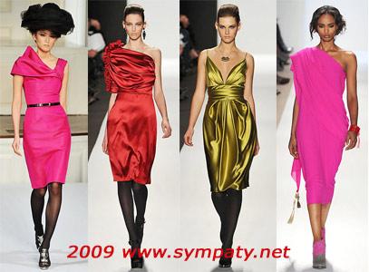 неоновые платья осень 2009