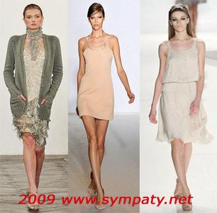 пастельные платья осень 2009