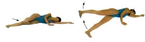 пилатес упражнение махи