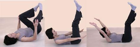 пилатес упражнение