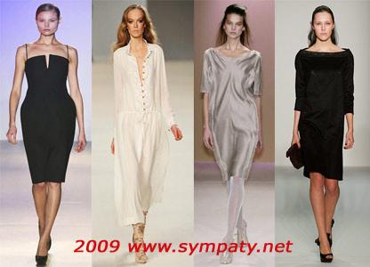 платья осень 2009 простой крой