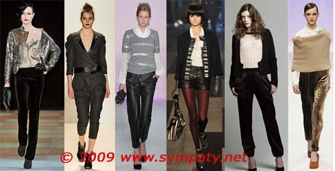 материал брюки осень 2009