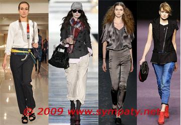 брюки с подворотами 2009