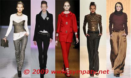 ширина брюк осень 2009