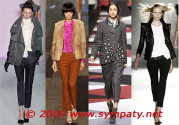 укороченные брюки осень 2009