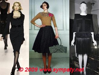 Модные юбки осень 2009: длина форма детали фото