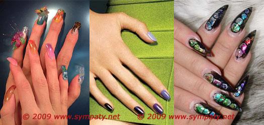 разноцветные ногти 2010