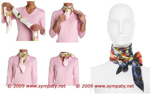французский стиль шарф