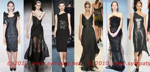 вечерние платья 2010 черный