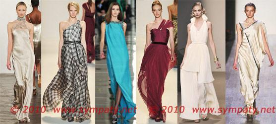 вечерние платья 2010
