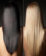 Правильно потому что длинные волосы
