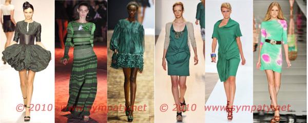 зеленое платье 2010