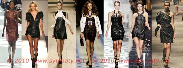 кожаные платья весна 2010