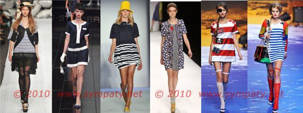 морские платья 2010