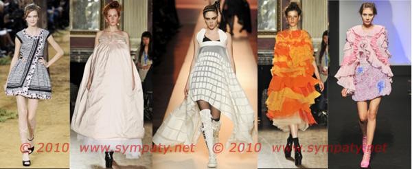 объемные платья весна 2010