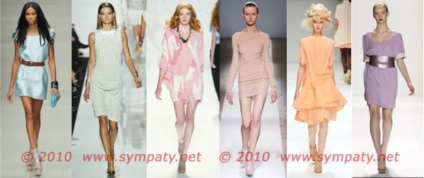 пастельные нейтральные платья 2010