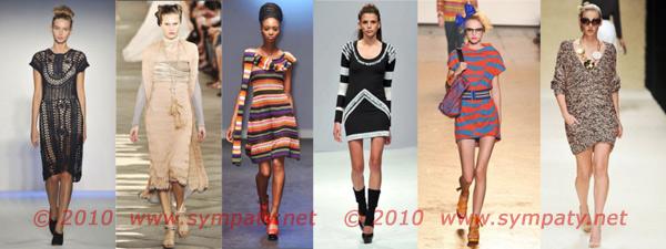 вязаные платья весна 2010