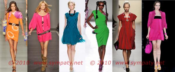 яркие платья 2010