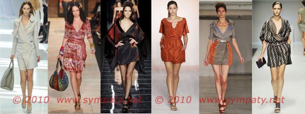 платья с запахом 2010