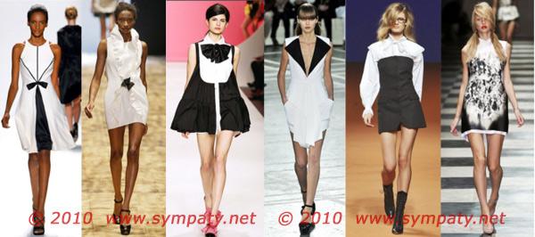 черно белые платья весна 2010