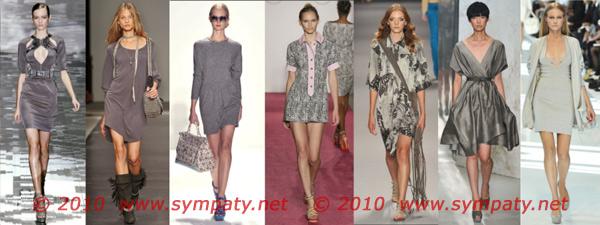 платья весна 2010 серый цвет