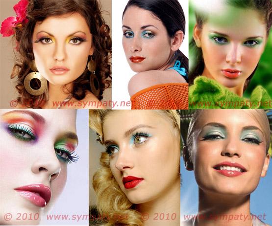 яркий весенний макияж